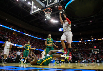 CLEVELAND, OH - MARCH 20: Jared Sullinger #0 of the Ohio State Buckeyes drives to the basket against the George Mason Patriots during the third of the 2011 NCAA men's basketball tournament at Quicken Loans Arena on March 20, 2011 in Cleveland, Ohio.  (Pho