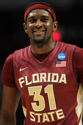 CHICAGO, IL - MARCH 18:  Chris Singleton #31 of the Florida State Seminoles smiles as he looks on in the second half of the game against the Texas A&M Aggies during the second round of the 2011 NCAA men's basketball tournament at the United Center on Marc