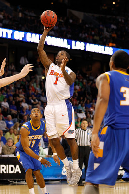 TAMPA, FL - MARCH 17:  Kenny Boynton #1 of the Florida Gators attempts a shot against the UC Santa Barbara Gauchos during the second round of the 2011 NCAA men's basketball tournament at St. Pete Times Forum on March 17, 2011 in Tampa, Florida. Florida wo
