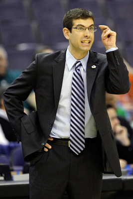 WASHINGTON - MARCH 17:  Head coach Brad Stevens of the Butler Bulldogs give instructions against the Old Dominion Monarchs during the second round of the 2011 NCAA men's basketball tournament at the Verizon Center on March 17, 2011 in Washington, DC.  (Ph