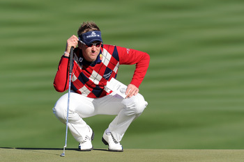 MARANA, AZ - FEBRUARY 23:  Ian Poulter of England looks on during the first round of the Accenture Match Play Championship at the Ritz-Carlton Golf Club on February 23, 2011 in Marana, Arizona.  (Photo by Stuart Franklin/Getty Images)