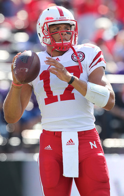 SEATTLE - SEPTEMBER 18: Quarterback Cody Green #17 of the Nebraska Cornhuskers looks on during warmups prior to the game against the Washington Huskies on September 18, 2010 at Husky Stadium in Seattle, Washington. (Photo by Otto Greule Jr/Getty Images)