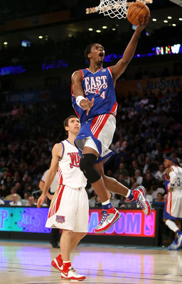 NEW ORLEANS - FEBRUARY 17:  Chris Bosh #4 of the Eastern Conference lays the ball up over Steve Nash #13 of the Western Conference during the 57th NBA All-Star Game, part of 2008 NBA All-Star Weekend at the New Orleans Arena on February 17, 2008 in New Or