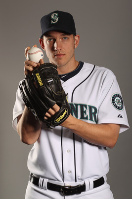 PEORIA, AZ - FEBRUARY 20:  Chris Ray #46 of the Seattle Mariners poses for a portrait at the Peoria Sports Complex on February 20, 2011 in Peoria, Arizona.  (Photo by Ezra Shaw/Getty Images)