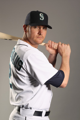 PEORIA, AZ - FEBRUARY 20:  Ryan Langerhans #12 of the Seattle Mariners poses for a portrait at the Peoria Sports Complex on February 20, 2011 in Peoria, Arizona.  (Photo by Ezra Shaw/Getty Images)