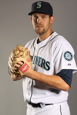 PEORIA, AZ - FEBRUARY 20:  Tom Wilhelmsen #73 of the Seattle Mariners poses for a portrait at the Peoria Sports Complex on February 20, 2011 in Peoria, Arizona.  (Photo by Ezra Shaw/Getty Images)