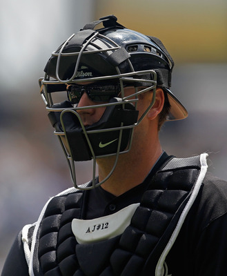 CHICAGO - JUNE 27: A.J. Pierzynski #12 of the Chicago White Sox walks to the dugout during a game against the Chicago Cubs at U.S. Cellular Field on June 27, 2010 in Chicago, Illinois. The Cubs defeated the White Sox 8-6. (Photo by Jonathan Daniel/Getty I