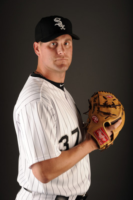 GLENDALE, AZ - FEBRUARY 26:  Matt Thornton #37 of the Chicago White Sox poses for a photo on photo day at Camelback Ranch on February 26, 2011 in Glendale, Arizona.  (Photo by Harry How/Getty Images)