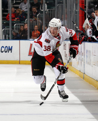 SUNRISE, FL - MARCH 10:  Erik Condra #38 of the Ottawa Senators skates against the Florida Panthers at the BankAtlantic Center on March 10, 2011 in Sunrise, Florida.  (Photo by Bruce Bennett/Getty Images)