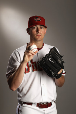 SCOTTSDALE, AZ - FEBRUARY 21:  Daniel Hudson #41 of the Arizona Diamondbacks poses for a portrait at Salt River Fields at Talking Stick on February 21, 2011 in Scottsdale, Arizona.  (Photo by Ezra Shaw/Getty Images)