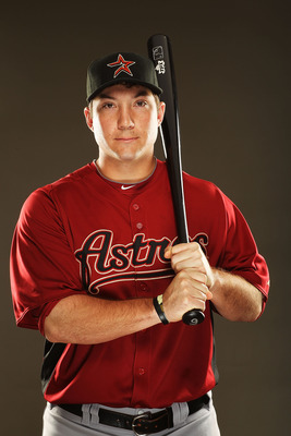 KISSIMMEE, FL - FEBRUARY 24:  Brett Wallace #29 of the Houston Astros poses for a portrait during Spring Training photo Day at Osceola County Stadium  on February 24, 2011 in Kissimmee, Florida.  (Photo by Al Bello/Getty Images)