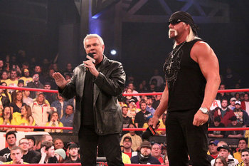 Hulk Hogan and Eric Bischoff