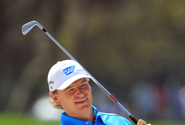 ORLANDO, FL - MARCH 23:  Ernie Els of South Africa during the pro-am as a preview for the 2011 Arnold Palmer Invitational presented by Mastercard at the Bay Hill Lodge and Country Club on March 23, 2011 in Orlando, Florida.  (Photo by David Cannon/Getty I