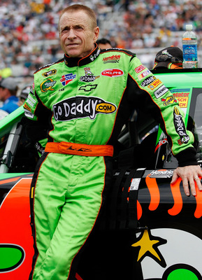 BRISTOL, TN - MARCH 20: Mark Martin, driver of the #5 GoDaddy.com Chevrolet, stands on the grid prior to the start of the NASCAR Sprint Cup Series Jeff Byrd 500 Presented By Food City at Bristol Motor Speedway on March 20, 2011 in Bristol, Tennessee.  (Ph