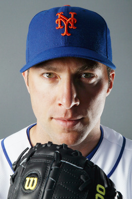 PORT ST. LUCIE, FL - FEBRUARY 24:  RY 24:  RY 24:  Chris Capuano #38 of the New York Mets poses for a portrait during the New York Mets Photo Day on February 24, 2011 at Digital Domain Park in Port St. Lucie, Florida.  (Photo by Elsa/Getty Images)