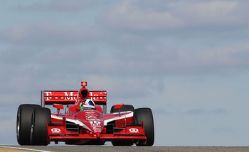 BIRMINGHAM, AL - MARCH 15:  Dario Franchitti of Scotland, drives the #10 Target Chip Ganassi Dallara Honda during IZOD IndyCar Series Spring Training at Barber Motorsports Park on March 15, 2011 in Birmingham, Alabama.  (Photo by Nick Laham/Getty Images)