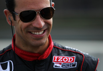 BIRMINGHAM, AL - MARCH 15:  Helio Castroneves of Brazil, driver of the #3 Team Penske Dallara Honda stands in pit lane during IZOD IndyCar Series Spring Training at Barber Motorsports Park on March 15, 2011 in Birmingham, Alabama.  (Photo by Nick Laham/Ge