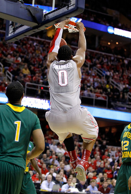 CLEVELAND, OH - MARCH 20: Jared Sullinger #0 of the Ohio State Buckeyes dunks the ball against the George Mason Patriots during the third of the 2011 NCAA men's basketball tournament at Quicken Loans Arena on March 20, 2011 in Cleveland, Ohio.  (Photo by