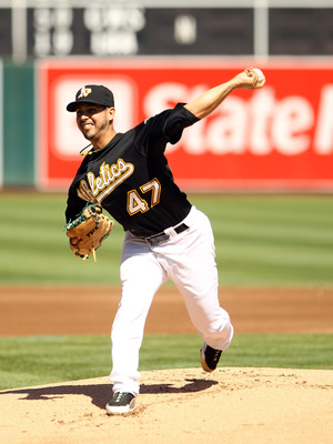 OAKLAND, CA - SEPTEMBER 25:  Gio Gonzalez #47 of the Oakland Athletics pitches against the Texas Rangers  at the Oakland-Alameda County Coliseum on September 25, 2010 in Oakland, California.  (Photo by Ezra Shaw/Getty Images)