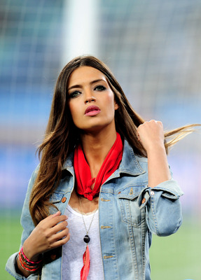 DURBAN, SOUTH AFRICA - JULY 07:  TV Presenter Sara Carbonero, girlfriend of Iker Casillas of Spain ahead of the 2010 FIFA World Cup South Africa Semi Final match between Germany and Spain at Durban Stadium on July 7, 2010 in Durban, South Africa.  (Photo