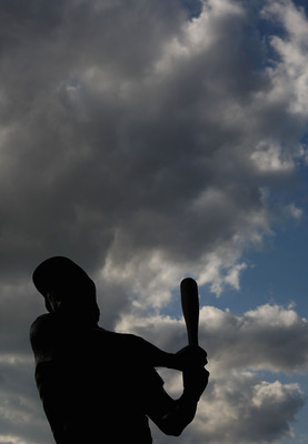 PHILADELPHIA - OCTOBER 02:  A statue of Mike Schmidt is seen at the entrance to Citizens Bank Ballpark prior to Game 2 of the NLDS Playoffs between the Philadelphia Philles and the Milwaukee Brewers on October 2, 2008 in Philadelphia, Pennsylvania.  (Phot