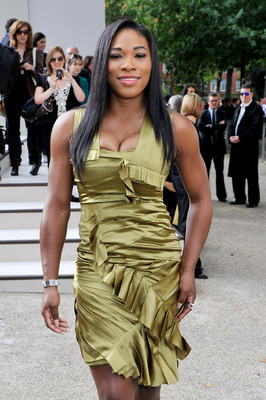 LONDON, ENGLAND - SEPTEMBER 21:  Tennis player Serena Williams attends the Burberry Prorsum Spring/Summer 2011 fashion show during LFW at Chelsea College of Art and Design on September 21, 2010 in London, England.  (Photo by Gareth Cattermole/Getty Images