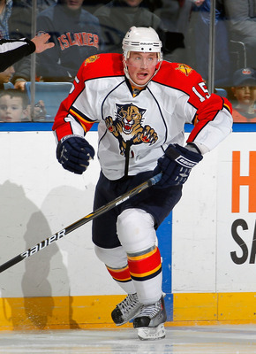 UNIONDALE, NY - FEBRUARY 21:  Jack Skille #15 of the Florida Panthers skates during an NHL hockey game against the New York Islanders at the Nassau Coliseum on February 21, 2011 in Uniondale, New York.  (Photo by Paul Bereswill/Getty Images)