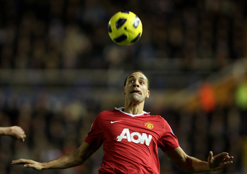 BIRMINGHAM, ENGLAND - DECEMBER 28:   Rio Ferdinand of Manchester United in action during the Barclays Premier League match between Birmingham City and Manchester United at St Andrew's Stadium on December 28, 2010 in Birmingham, England. (Photo by Ross Kin