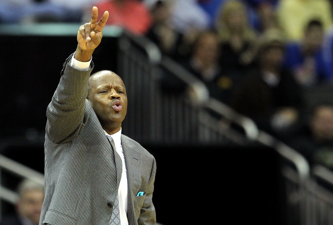 KANSAS CITY, MO - MARCH 09:  Head coach Mike Anderson of the Missouri Tigers signals against the Texas Tech Red Raiders during their first round game in the 2011 Phillips 66 Big 12 Men's Basketball Tournament at Sprint Center on March 9, 2011 in Kansas Ci