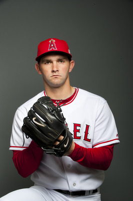 TEMPE, AZ - FEBRUARY 21: Tyler Chatwood #52 of the Los Angeles Angels of Anaheim poses during their photo day at Tempe Diablo Stadium on February 21, 2011 in Tempe, Arizona.  (Photo by Rob Tringali/Getty Images)
