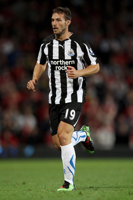 MANCHESTER, ENGLAND - AUGUST 16:  Xisco of Newcastle United in action during the Barclays Premier League match between Manchester United and Newcastle United at Old Trafford on August 16, 2010 in Manchester, England.  (Photo by Alex Livesey/Getty Images)