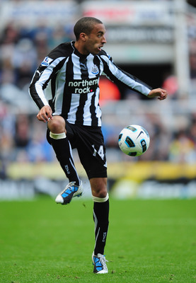 NEWCASTLE UPON TYNE, ENGLAND - SEPTEMBER 26:  James Perch of Newcastle United in action during the Barclays Premier League match between Newcastle United and Stoke City at St James' Park on September 26, 2010 in Newcastle upon Tyne, England.  (Photo by Mi