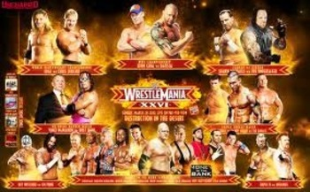 WrestleMania 26 Match Card