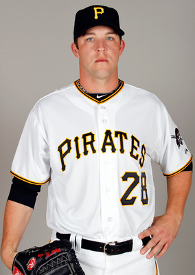 BRADENTON, FL - FEBRUARY 20:  Pitcher Paul Maholm #28 of the Pittsburgh Pirates poses for a photo during photo day at Pirate City on February 20, 2011 in Bradenton, Florida.  (Photo by J. Meric/Getty Images)