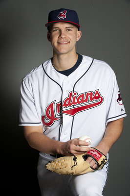 GOODYEAR, AZ - FEBRUARY 22: Justin Masterson #63 of the Cleveland Indians poses during their photo day at the Cleveland Indians Spring Training Complex on February 22, 2011 in Goodyear, Arizona. (Photo by Rob Tringali/Getty Images)