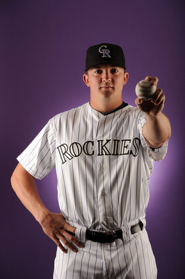 SCOTTSDALE, AZ - FEBRUARY 24:  Rex Brothers #67 of the Colorado Rockies poses for a portrait during photo day at the Salt River Fields at Talking Stick on February 24, 2011 in Scottsdale, Arizona.  (Photo by Harry How/Getty Images)