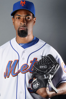 PORT ST. LUCIE, FL - FEBRUARY 24:  RY 24:  Manny Acosta #36 of the New York Mets poses for a portrait during the New York Mets Photo Day on February 24, 2011 at Digital Domain Park in Port St. Lucie, Florida.  (Photo by Elsa/Getty Images)