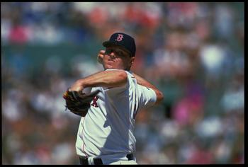 13 Jun 1993: BOSTON REDSOX PITCHER ROGER CLEMENS IN ACTION DURING THE REDSOX VERSUS BALTIMORE ORIOLES GAME AT FENWAY PARK IN BOSTON, MASSACHUSETTS