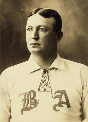 Cy Young in 1902. Boston's AL club was then known as the Americans.