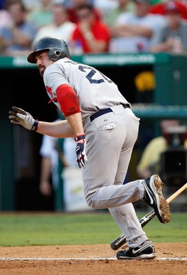 ARLINGTON, TX - JULY 20:  Kevin Youkillis #20 of the Boston Red Sox on July 20, 2009 at Rangers Ballpark in Arlington, Texas.  (Photo by Ronald Martinez/Getty Images)