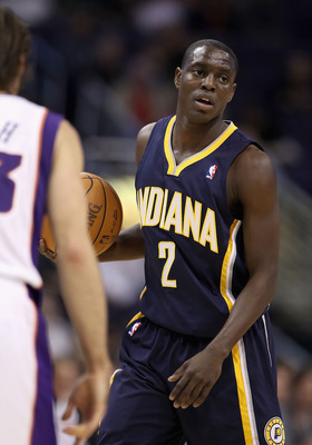 PHOENIX - DECEMBER 03:  Darren Collison #2 of the Indiana Pacers during the NBA game against the Phoenix Suns at US Airways Center on December 3, 2010 in Phoenix, Arizona. NOTE TO USER: User expressly acknowledges and agrees that, by downloading and or us
