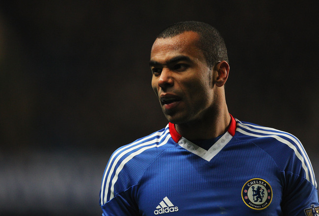 LONDON, ENGLAND - MARCH 01:  Ashley Cole of Chelsea looks on during the Barclays Premier League match between Chelsea and Manchester United at Stamford Bridge on March 1, 2011 in London, England.  (Photo by Clive Rose/Getty Images)