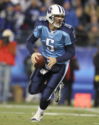 NASHVILLE, TN - DECEMBER 09:  Kerry Collins #5 of the Tennessee Titans runs with the ball against the Indianapolis Colts during the NFL game at LP Field on December 9, 2010 in Nashville, Tennessee.  (Photo by Andy Lyons/Getty Images)