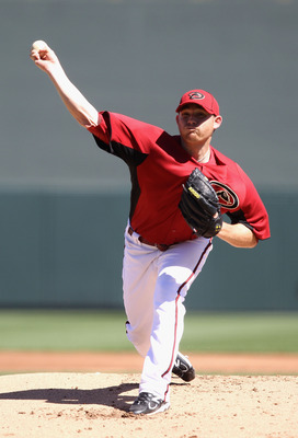 SCOTTSDALE, AZ - MARCH 09:  Starting pitcher Ian Kennedy #31 of the Arizona Diamondbacks pitches against the Milwaukee Brewers during the spring training game at Salt River Fields at Talking Stick on March 9, 2011 in Scottsdale, Arizona.  (Photo by Christ