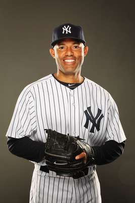 TAMPA, FL - FEBRUARY 23:  Mariano Rivera #42 of the New York Yankees poses for a portrait on Photo Day at George M. Steinbrenner Field on February 23, 2011 in Tampa, Florida.  (Photo by Al Bello/Getty Images)