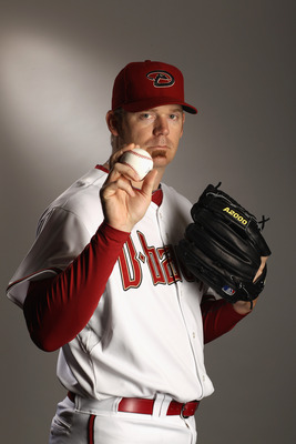 SCOTTSDALE, AZ - FEBRUARY 21:  J.J. Putz #40 of the Arizona Diamondbacks poses for a portrait at Salt River Fields at Talking Stick on February 21, 2011 in Scottsdale, Arizona.  (Photo by Ezra Shaw/Getty Images)