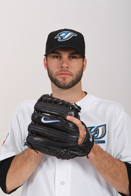 DUNEDIN, FL - FEBRUARY 20:  Brandon Morrow #23 of the Toronto Blue Jays poses during photo day at Florida Auto Exchange Stadium on February 20, 2011 in Dunedin, Florida.  (Photo by Nick Laham/Getty Images)