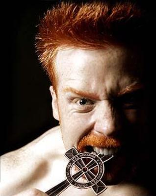 A vicious photograph of Sheamus.