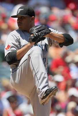 ANAHEIM, CA - AUGUST 15:  Ricky Romero #24 of the Toronto Blue Jays pitches against the Los Angeles Angels of Anaheim in the second inning at Angel Stadium on August 15, 2010 in Anaheim, California. The Blue Jays defeated the Angels 4-1.  (Photo by Jeff G
