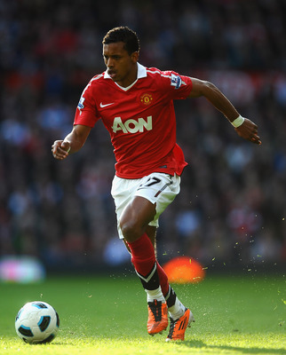 MANCHESTER, ENGLAND - MARCH 19:  Nani of Manchester United in action during the Barclays Premier League match between Manchester United and Bolton Wanderers at Old Trafford on March 19, 2011 in Manchester, England.  (Photo by Laurence Griffiths/Getty Imag